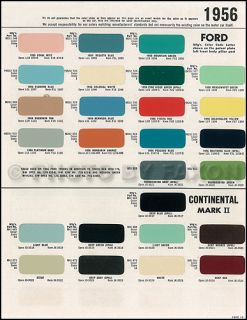 1956 1957 Lincoln Continental Mark II Paint Chips RARE 9 Original