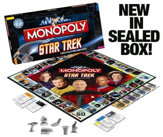 New Star Trek Monopoly Continuum Edition 6 Pewter Tokens SEALED New