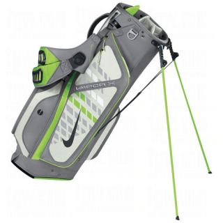 New 2012 Nike Vapor x Carry Stand Golf Bag Cool Grey Action Green Swan