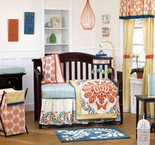 Cocalo Sundae Girl Crib Bedding Set Mobile Art Hamper Lamp Valance