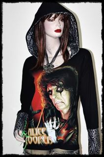 Alice Cooper Metal Rock DIY Slash Hoodie Top Animal Printed