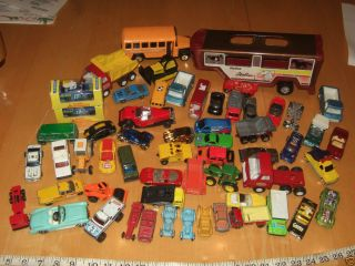 Lot of Vintage Cars Matchbox Bus Dump Truck U Haul