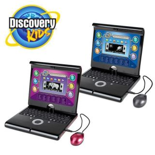 Discovery Kids Teach n Talk Exploration Laptop Computer~Pink