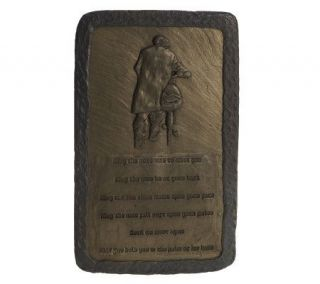 OGowna Man on Bicycle Irish Blessing Plaque —