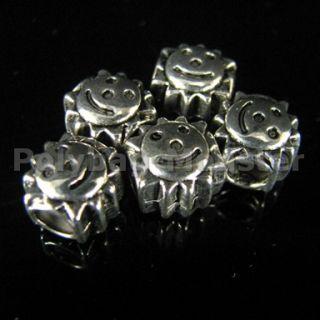 10pcs Tibetan Silver Sun Charm Beads Fit Bracelet 25