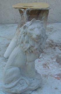 Latex sitting lion mold