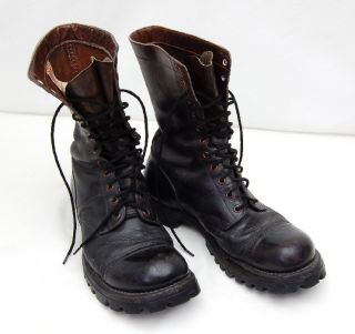 Vintage WWII Corcoran Split Sole Military Paratrooper Jump Boots Size