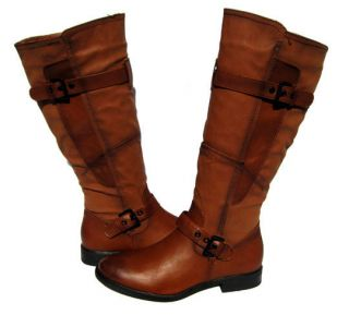 Womens Riding Boots Cognac Brown Shoes Winter Snow Fur Lined Ladies