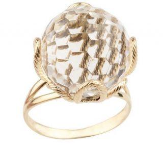 VicenzaGold 18.50 ct Faceted Crystal Quartz Ring, 14K —