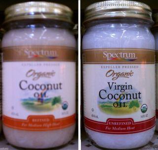 Coconut Oil Choose Refined or Unrefined Virgin 14oz Cooking Oil