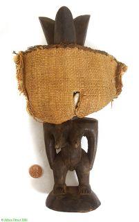 Yoruba Ibeji Twin Figure With Beaded Vest Africa sale wAS $290