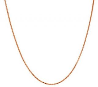 18K Rose Gold Plated Sterling 20 Coreana Chain —