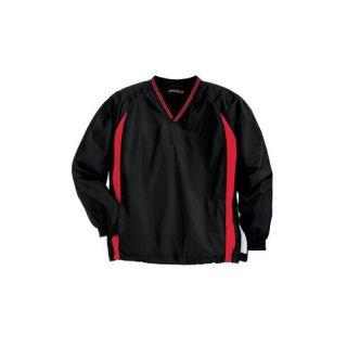 Sport Tek Tipped V Neck Raglan Wind Shirt