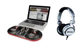 iCUE3 DISCOVER DJ USB Turntable Computer System + GEMINI Headphones