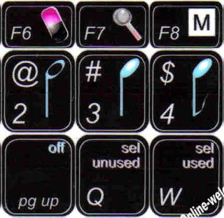 Apple Logic Keyboard Stickers for Computer Laptop Black