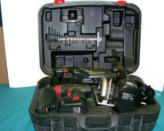 Coleman Powermate 4 PC 18V Cordless Power Tool Set w Case