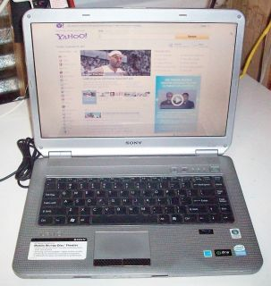 Sony Vaio Computer Laptop VGN NS160ES Series Blu Ray Used