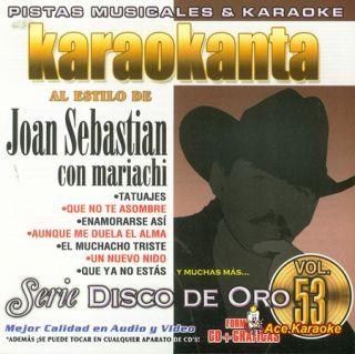 Karaokanta Kar 1753 Joan Sebastian Con Mariachi Spanish CDG