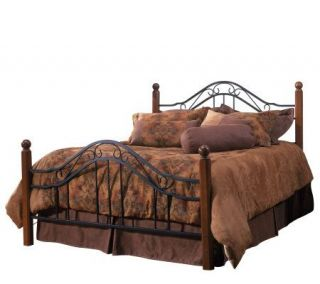 Hillsdale House Madison Twin Bed   Cherry Finish/Black —