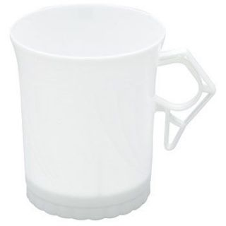 Plastic Coffee Cups White Newbury 8oz 8 Pack 12476