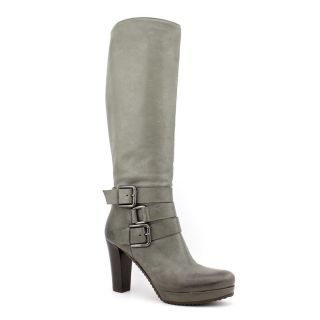 Cordani Verna Womens Size 7 Gray Leather Fashion Knee High Boots EU 37