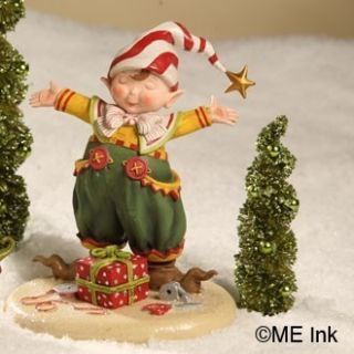 NEW Mary Engelbreit Christmas Its a Wrap Elf Figure Bethany Lowe