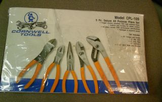 Cornwell Tools Model CPL 109 5pc Deluxe Pliers Set New