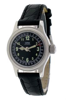 Oris Big Crown Lady Esfera Negra Correa Cuero OR58475504064