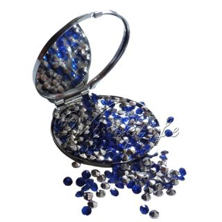 Royal Blue&Silver 4.5mm Diamond Confetti Wedding Party Scatter CRYSTAL