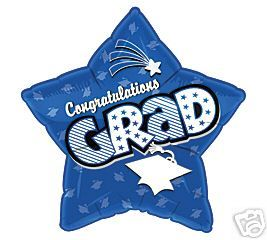 Graduation 18 Balloons Gifts Blue Star Congratulation