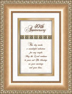 40th Wedding Anniversary Gift Framed Verse Picture Print Heartfelt 50th Idea Personalized Poem