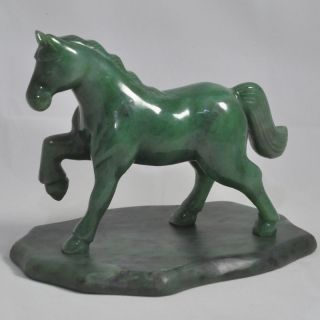 Carved Canadian Nephrite Jade Horse Amazing Color Huge Size More Than