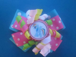 Rainbow Dash Boutique Layered corker hair bow *My Little Pony*