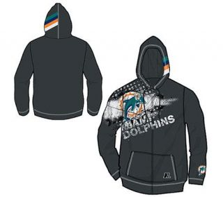 NFL Miami Dolphins Womens Distressed Hooded Sweatshirt —