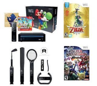 Nintendo Wii Console Bundle w/ 3 Games &Accessories —