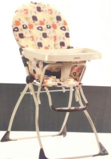New Cosco Flat Fold High Chair Fruity Jungle Feeding Seat Baby Free