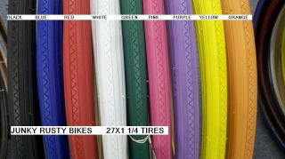 27x1 1 4 Bike Bicycle Road Bike Tires Solid Color Pink Red Blue Black