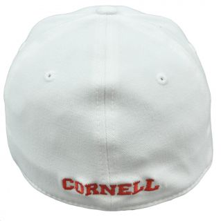 The World One Size Flex Fit Hat Cap Cornell Big Red Constructed Bear