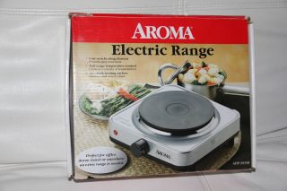 Electric Portable Cooktop Range, Freestanding Single Burner Stove Cook