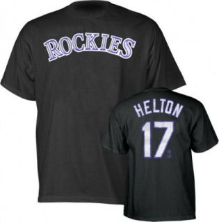 Colorado Rockies Todd Helton Blk Jersey T Shirt Sz XL