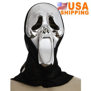 Crazy Scared Ghost Scream Face Mask for Costume Party Halloween