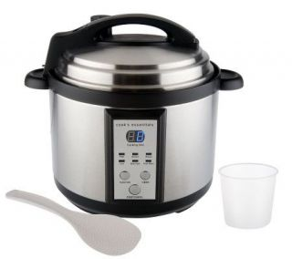 CooksEssentials Stainless Steel 5 Quart Pressure Cooker w/6 Settings
