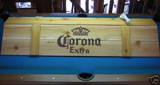 New Corona Pool Table Light Cue Rack Combo