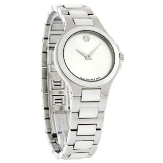Movado Corporate Exclusive Ladies Silver Dial Swiss Quartz Watch