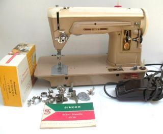 SINGER SEWING MACHINE 404 SLANT O MATIC SEWING MACHINE SERVICED