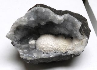 OKENITE SPARKLY COTTON BALLS GEODE SPECIMEN  FROM INDIA, UNIQUE