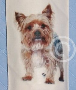 Yorkshire Terrier Cotton Carrier Bag Holder Yorkie Dog