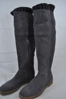 CORSO COMO RADAR DARK GREY SWEATER HALF ZIP SUEDE KNEE HIGH BOOT 8596
