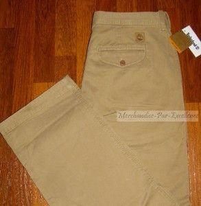 Timberland Mens Cotton Pants Khaki New Size 32 x 30