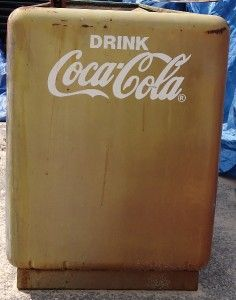 vintage coca cola cooler for parts